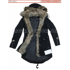 Winter Coat with Fur Hood for Ladies