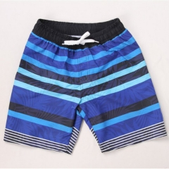 Boy's Striped Board Shorts